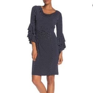 Signature by Robbie Bee - Cowl Neck Ruffle Dress